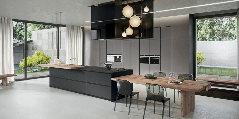 Iluminación en la cocina, Zebrano Cocinas