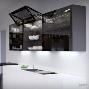 Iluminación en armarios Zebrano Cocinas